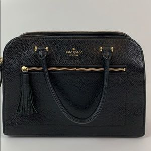 Kate spade tassel handbag black